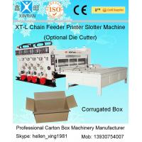 Buy cheap 4KW Semi Auto Flexo Printing Slotting Machine With Gear Pump / Grinded Surface from wholesalers