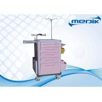 Buy cheap IV pole Emergency Medical Trolleys With Utility Container ABS Drawers from wholesalers