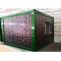 Buy cheap Camouflage Color Flat Pack Container Homes With Galvanized Steel Frame Structure from wholesalers