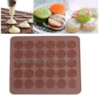 Buy cheap 30-Capacity Round Shaped Non Stick Heat Resistant Reusable Macarons Silicone Baking Mat from wholesalers