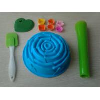 Buy cheap Non-Stick 10pcs Silicone Baking Set With Rose Cake Mould , Silicon Spatula from wholesalers