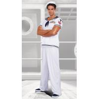 Buy cheap Sailor Sea Costumes Wholesale Men's Ship Happens Sailor Costume for Your Halloween Party from wholesalers