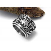 Buy cheap Cool Stainless Steel Rings Flesh Heavy Jewelry Unique Retro Mens Dragon Rings from wholesalers