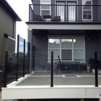 Buy cheap Wholesale Exterior Glass Railing Systems Topless steel post glass railing Frameless Glass Railing Decks from wholesalers