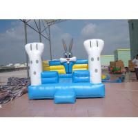Buy cheap Durable Blue Outdoor Commercial Bounce Houses With Oxford Fabric from wholesalers