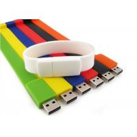 Buy cheap Silicone custom branded USB flash drives Wrist bands USB2.0 32GB / 16GB / 8GB from wholesalers