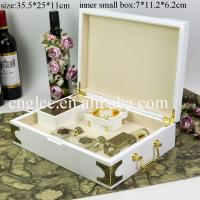 Buy cheap piano white lacquer finish luxury wooden perfume gift packaging box arabic from wholesalers