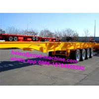 Buy cheap Three Axles 40 ft 20 ft Container Chassis Skeleton Semi Trailer Truck from wholesalers