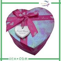 Buy cheap Candy Chocolate Gift Boxes , cardboard boxes for gifts In Heart Shape from wholesalers
