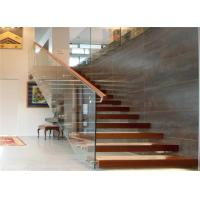 Buy cheap Modern wood stair edging folding wood stairs build floating staircase stairs from wholesalers