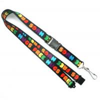 Buy cheap Polyester Heat Transfer Print Lanyard With Swivel Hook For Card Holder from wholesalers