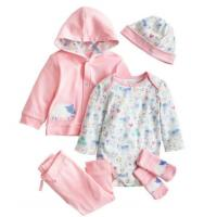 Buy cheap Pink Infant Baby Clothes Girls 5 Piece Baby Gift Set Breathable Eco Friendly from wholesalers