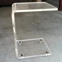 Buy cheap Modern Office Acrylic Furniture , Acrylic Side Table With Casters product