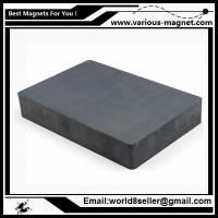 Buy cheap Size:F84X64X14/Ferrite block magnet for magnetic separator with high magnetic induction from wholesalers