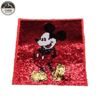 Buy cheap Popular Mickey Mouse Sew On Patch , Cartoon Reversible Applique Sequin Patches from wholesalers