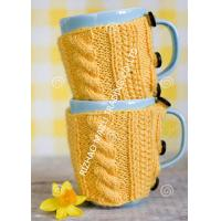 Buy cheap Knitted Wraparound Cable Design Coffee Mug Cozy , Custom Reusable Crochet Coffee Cozy from wholesalers