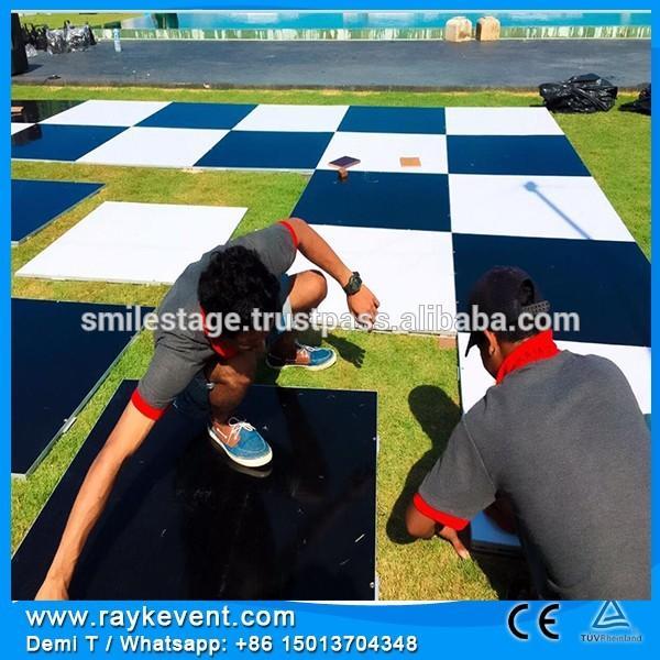 Rk Manufacture 4 4ft Black White Portable Dance Floor