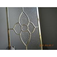 Buy cheap Figured Glass Panels For Kitchen Cabinets , Beveled / Flat Edge Glass For Cabinets from wholesalers