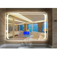 Illuminated Tv Behind Mirror , Scratch Resistant Hotel Mirror Tv Wall Mount