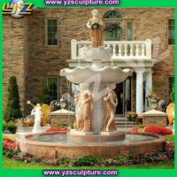 Buy cheap large marble garden water fountain from wholesalers