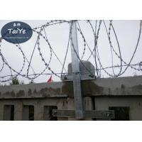 Buy cheap High Zinc Coated Chain Link Fence Barbed Wire Arms  Firm Structure On Railway from wholesalers