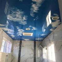 Buy cheap Stretch PVC Ceiling Film Blue Sky Starry Night With Fluorescent Lights from wholesalers