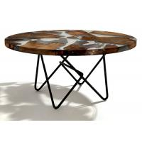 Buy cheap Modern New Glass Top Hotel Coffee Table Stainless Steel / Solid Wood Legs from wholesalers