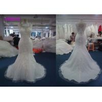 Buy cheap Luxury Sweetheart Ivory Mermaid Style Wedding Dress With Beaded Appliques 100% Polyester from wholesalers