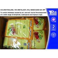 Buy cheap Systemic Fungicide Chlorothalonil 18% + Metalaxyl 8% + Mancozeb 54% WP from wholesalers