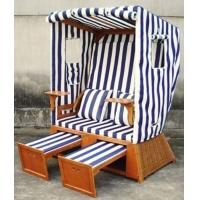 Buy cheap Waterproof Wood And PE Rattan Roofed Beach Chair & Strandkorb In Summer from wholesalers
