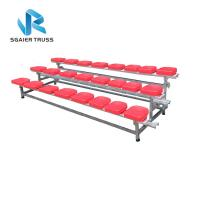 Buy cheap 2 - 5 Rows Outdoor Aluminum Stadium Bleachers Metal Structure Bench Grandstand from wholesalers