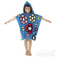 Buy cheap Durable Cartoon Hooded Poncho Towels / Soft Touch Personalised Poncho Towel Dryfast from wholesalers