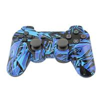 Buy cheap Charging Ps3 Joystick Wireless, Gamepad Ps3 ControllerBlue Graffiti Bluetooth Tech from wholesalers