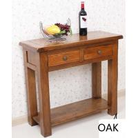 Buy cheap Rustic Oak 2 Drawer Hall Table from wholesalers