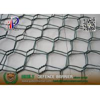 Buy cheap Green Color PVC coated Wire gabion mesh boxes | 80X100mm hexagonal hole from wholesalers