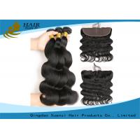 Buy cheap 9A Grade Body Wave Brazilian Human Hair Extensions Natural Black / Brown from wholesalers