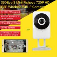 Quality EC1 360Eye S 185degree Panorama Camera iOS/Android APP Night Vision 720P CCTV IP P2P WiFi Wireless Surveillance Security for sale