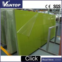 Buy cheap Pure Green Color Engineered Quartz Stone Surface 3200x1600mm from wholesalers