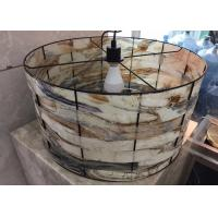 Buy cheap Stone Craft Natural Beautiful Marble Lamp Lighting For Decoration from wholesalers