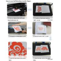 Buy cheap Self-weeding inkjet  Transfer Paper ,Sublimation ink print, for 100% light cotton, no need cut from wholesalers