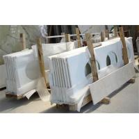Buy cheap Customized Polished Quartz Bathroom Vanity Tops with sink , Eased Edge from wholesalers