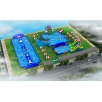 Buy cheap Durable Outdoor Inflatable Water Park / Blow Up Water Playground from wholesalers