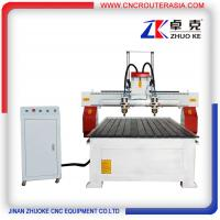Buy cheap 2 heads woodworking cnc router 1325 with rotary axis ZKM-1325A 1300*2500mm from wholesalers