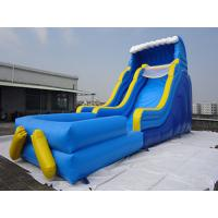 Buy cheap Giant Outdoor Yellow Inflatable Water slide With Pool / Commercial Water Park For Kids from wholesalers