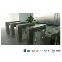 Buy cheap Waist High Railway Access Control Turnstiles Stainless Steel Silver RFID Reader product
