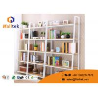 Buy cheap Movable Steel Wood Display Rack Powder Coating Wooden Store Shelves from wholesalers