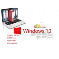 Buy cheap Original Microsoft Windows 10 Pro OEM Packaging French DVD COA License 64bit Online Activate from wholesalers