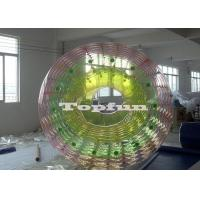 Buy cheap Custom Inflatable Rainbow Water Roller PVC / TPU 2.4m x 2.8m Heat Sealed from wholesalers