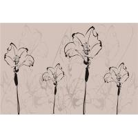 Buy cheap Customized Bamboo Fiber Modern Wall Panels Decorative Brown Flowers from wholesalers