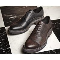 Buy cheap Woven Formal Mens Leather Dress Shoes Elegant Goodyear Welted Shoes With Two Cap Toe from wholesalers